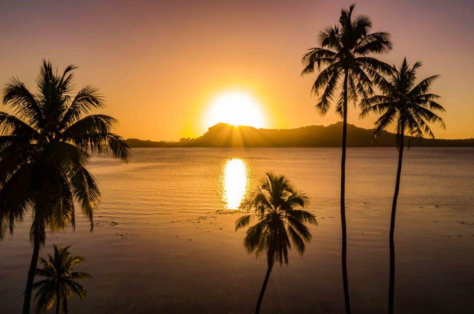 Coucher de soleil à Bora Bora
